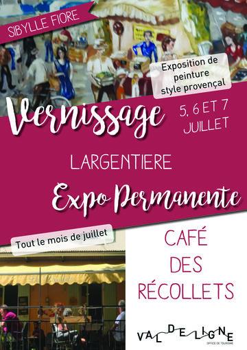 Exposition au café des récollets / Sibylle Fiore