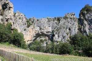 Le Pont d'Arc face Nord