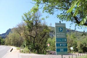 Parking Pont d'Arc belvédère
